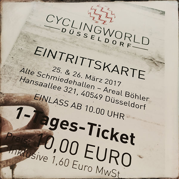 Tagesticket der Cyclingworld 2017